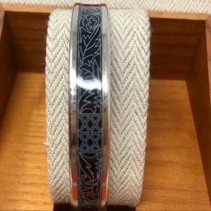 Hermès Enamel Bangle Bracelet in Presentation Box